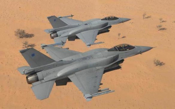 Ζεύγος Φ-16 της Βασιλικής Αεροπορίας του Ομάν