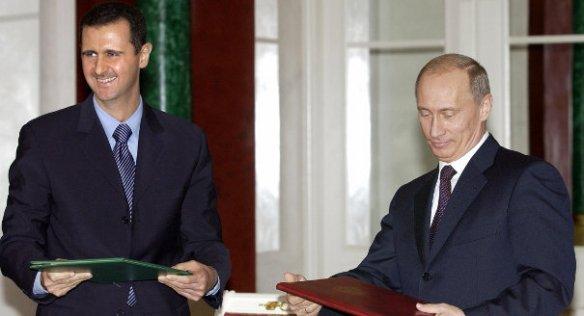 Παλαιότερη Συνάντηση του Μπασάρ αλ Άσσαντ με τον Βλαντιμιρ Πούτιν (Πηγή carnegiedowment)