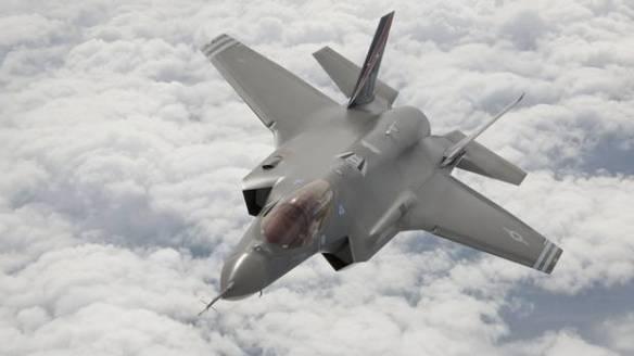 Ένα F35 σε δοκιμές κοντά στην αεροπορική βάση  Edwards Air Force Base στην Καλιφόρνια (Πηγή www.cbc.ca)
