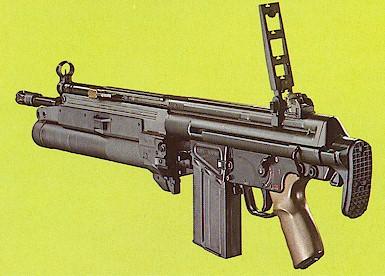 HK 79 με ανεπτυγμένα τα σκοπευτικά του