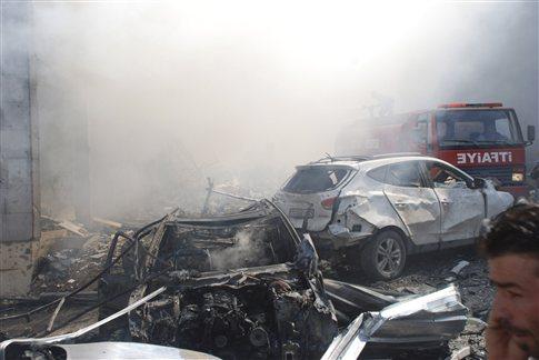 Στιγμιότυπο από τα λεπτά μετά την βομβιστική επίθεση (Πηγή Reuters)