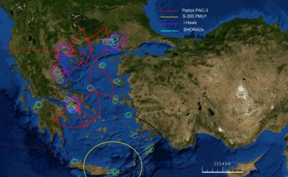 Πιθανή διάταξη του Ελληνικού IADS (Πηγή HBS)