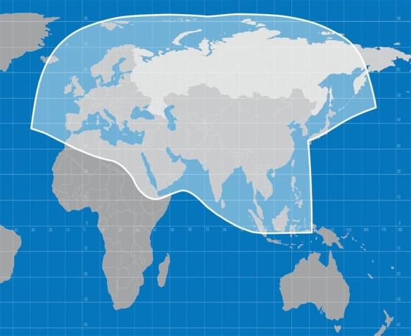 Η περιοχή κάλυψης του νέου δορυφόρου Yamal 601 της Gazprom