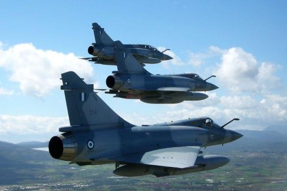 Τα Mirage 2000-5 έπαιξαν το ρόλο απεικόνισης της εχθρικής απειλής (Πηγή ΠΑ)