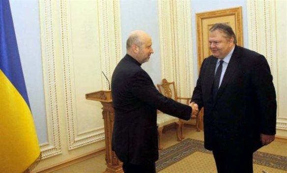 Ο Έλληνας Υπ.Εξ σε συνάντηση με τον μεταβατικό Πρόεδρο της Ουκρανίας Αλεξαντρ Τουρτσίνοφ