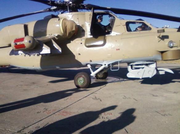 Η πλαινή όψη ενός Mi-28 λίγο πριν ολοκληρωθούν οι δοκιμές εδάφους