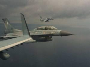 Το ΑΣΕΠΕ συνοδεύοταν από 2 Mirage και 2 F-16