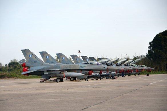 Όλος ο ελλληνικός αεροπορικός στόλος συμμετείχε στην άσκηση στα πλαίσια αποστολών COMAO