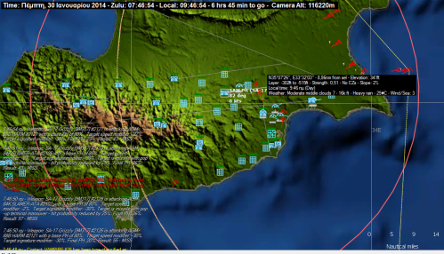 To Σφυροκόπημα συνεχίζεται αμείωτο με ταυτόχρονη προσβολή από βορά (με HARM) και ανατολικά με Popeye και SLAM-ER