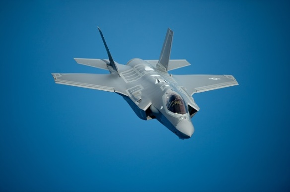 F-35A pilots fly in formation