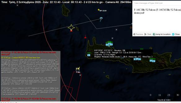 f-35 against F-16 Crete