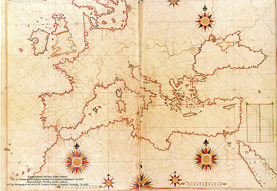 550px-Piri_Reis_map_of_Europe_and_the_Mediterranean_Sea